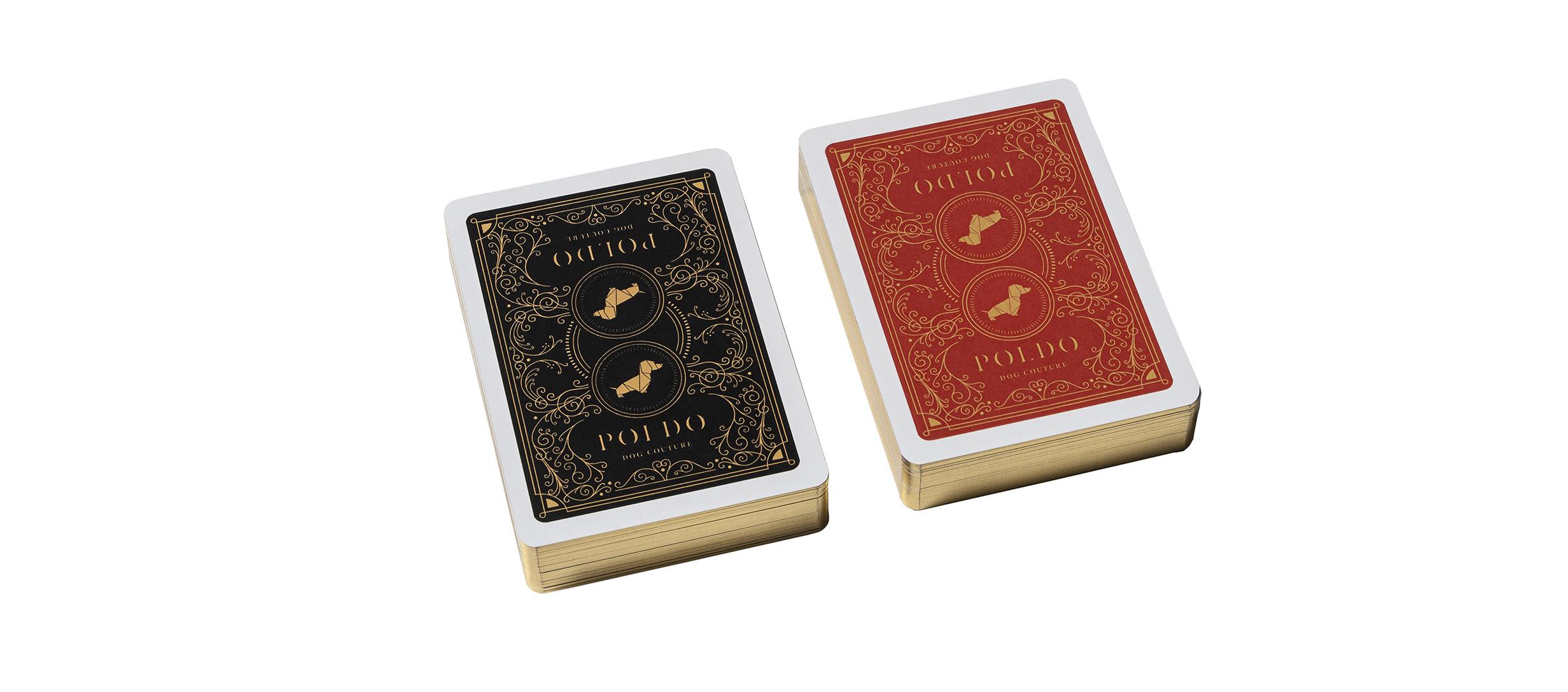 poldo dog couture playing cards decks