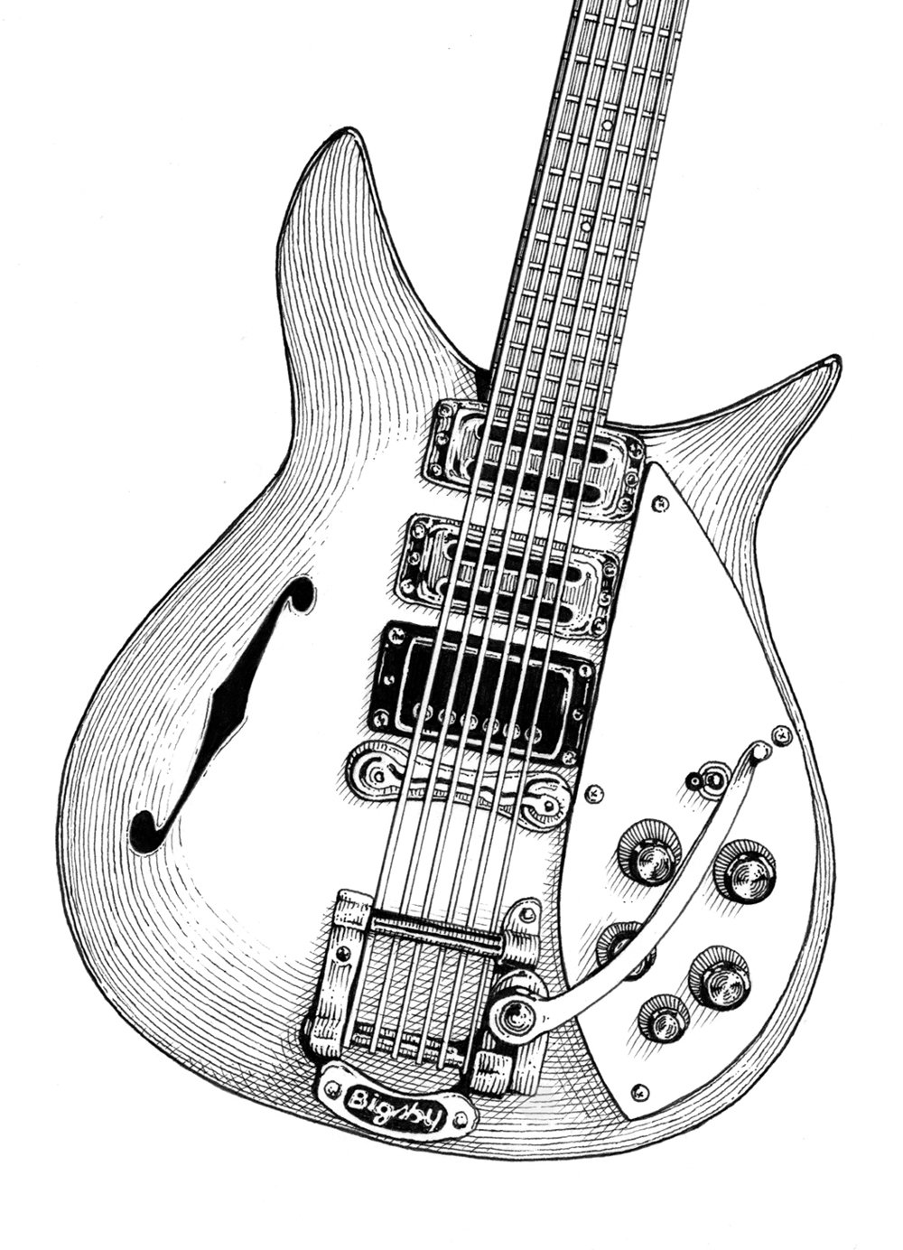 rickenbacker_detail_illustration_ICON_style_rock_virgin_radio_editorial_ilariazena