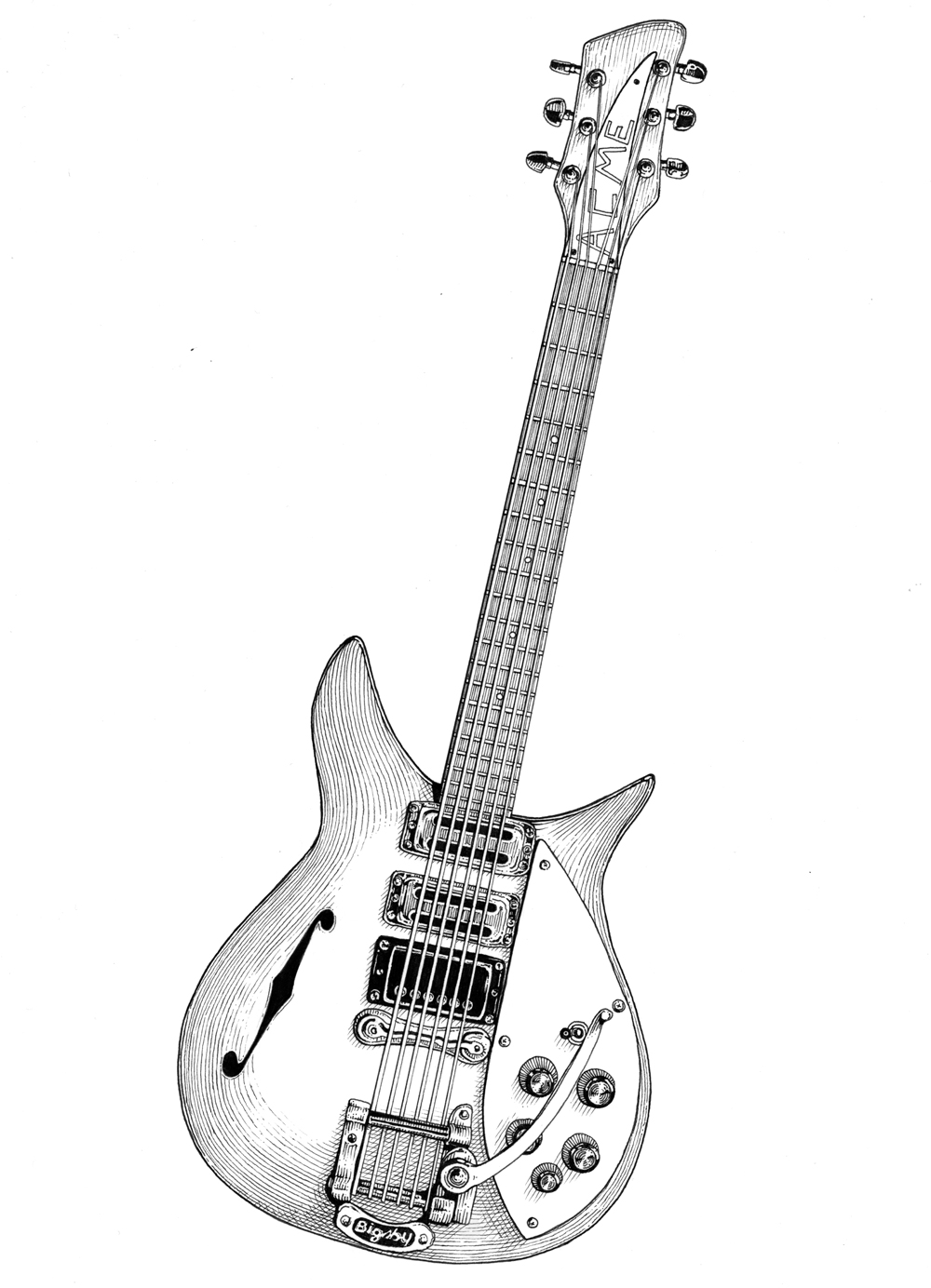 rickenbacker_illustration_ICON_style_rock_virgin_radio_editorial_ilariazena